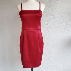 NWT!  Express Design Studio Red Satin Dress